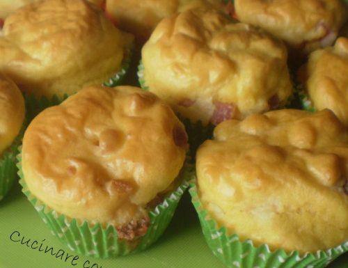 Muffins pancetta e formaggio ricetta salata