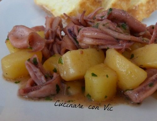 Calamaretti con patate