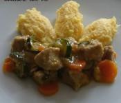 Mini bocconcini di vitello con verdure