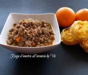 Ragù d'anatra all'arancia