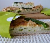 Crostata con ricotta e asparagi (ricetta con asparagi)