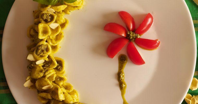 Orecchiette al pesto di basilico