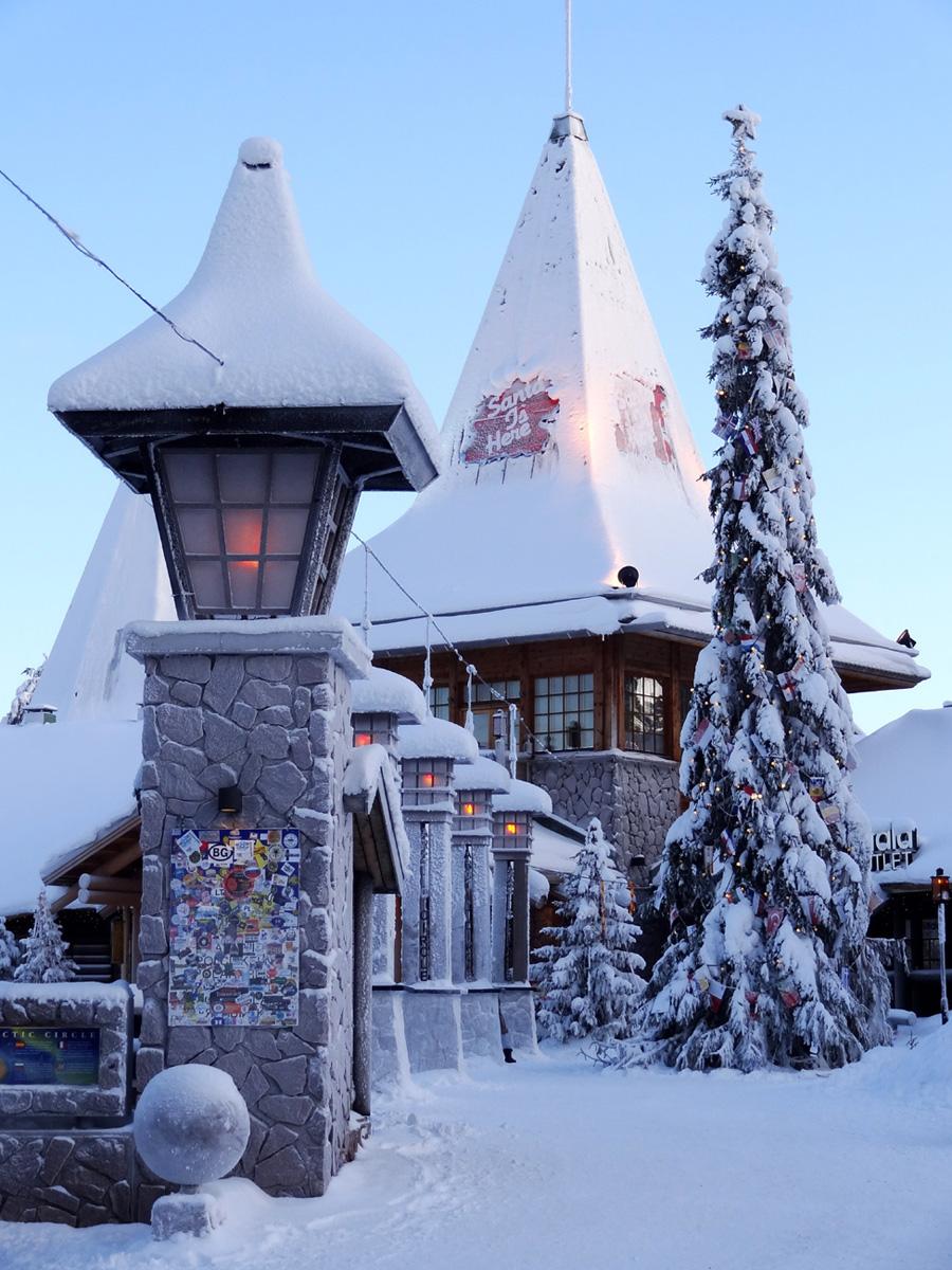 Rovaniemi Finlandia Villaggio Di Babbo Natale.Il Villaggio Di Babbo Natale A Rovaniemi Finlandia