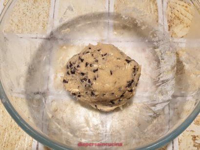 Impasto per i cookies al cioccolato