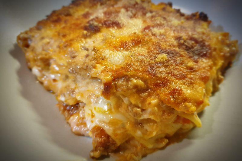 Lasagne con prosciutto cotto e scamorza affumicata