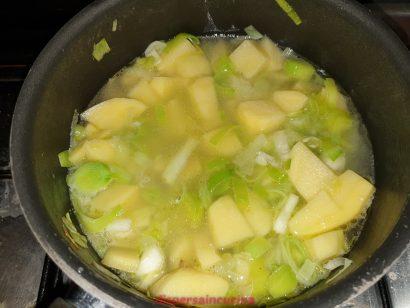 Coprire con acqua e cuocere per 30 minuti