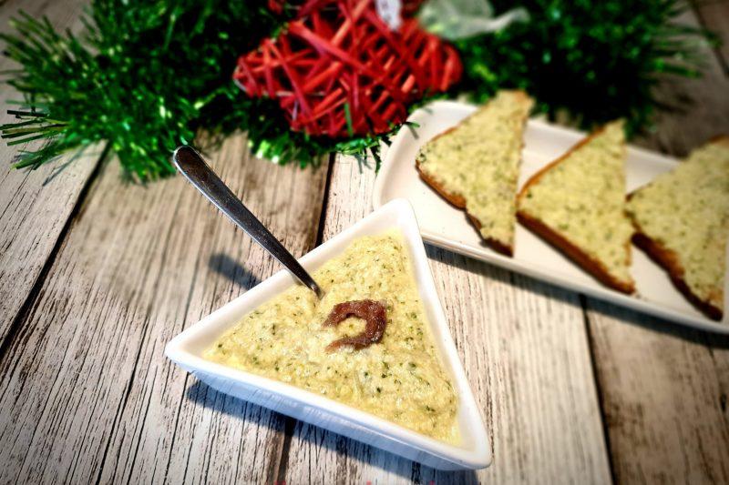 Mousse di mozzarella di bufala, zucchine e acciughe