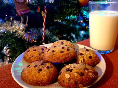 Cookies al cioccolato per Babbo Natale
