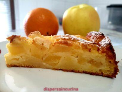 Torta fresca di mele e arancia
