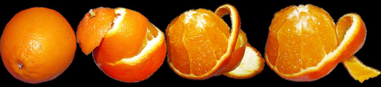 Gli strati dell'arancia