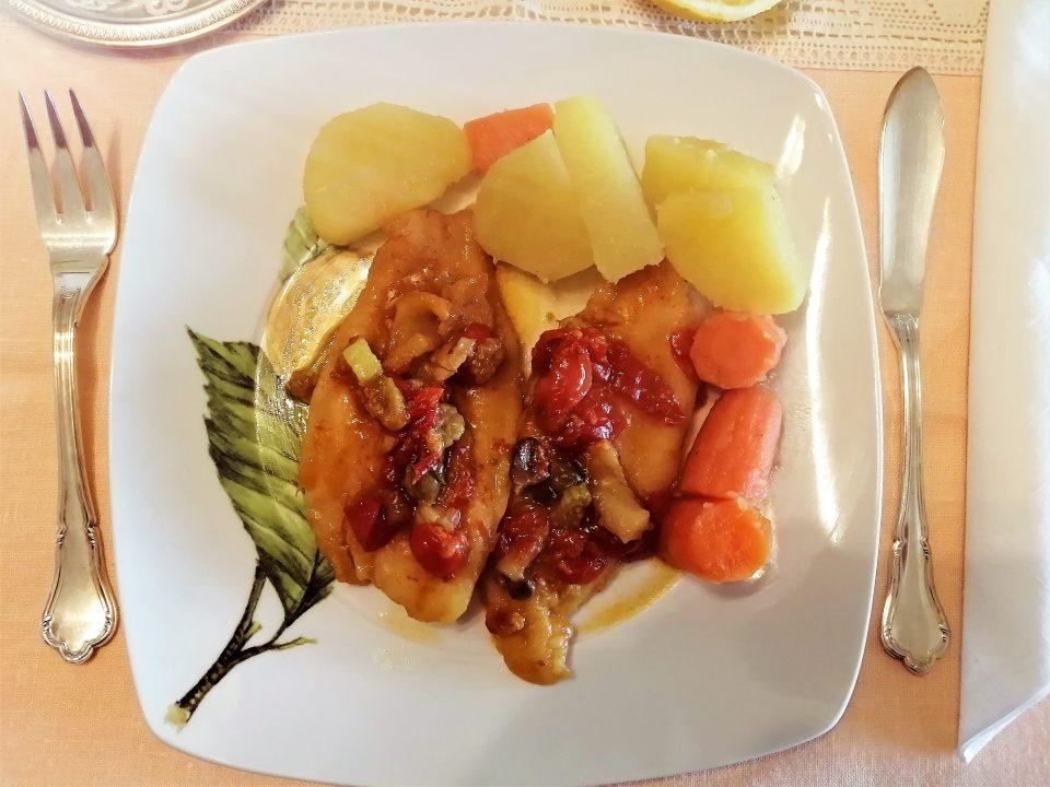filetti di merluzzo in crema di verdure e soia