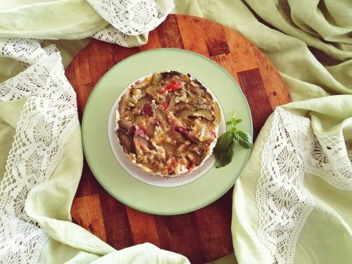 Cheesecake salata con zucchine e olive calabresi