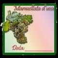 Icon of Etichetta quadrata per marmellata d'uva