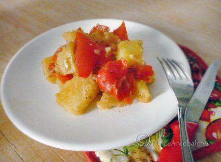 Peperoni rossi con patate
