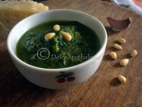 Pesto genovese, ricetta base.