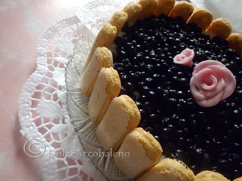 Torta ai mirtilli senza burro, ricetta dolce. by Dolcearcobaleno