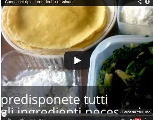 Cannelloni con ricotta e spinaci.