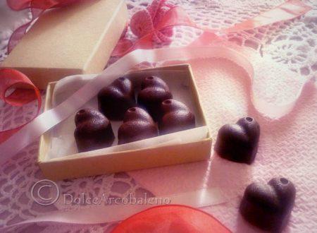 Cioccolatini a cuore per San Valentino.