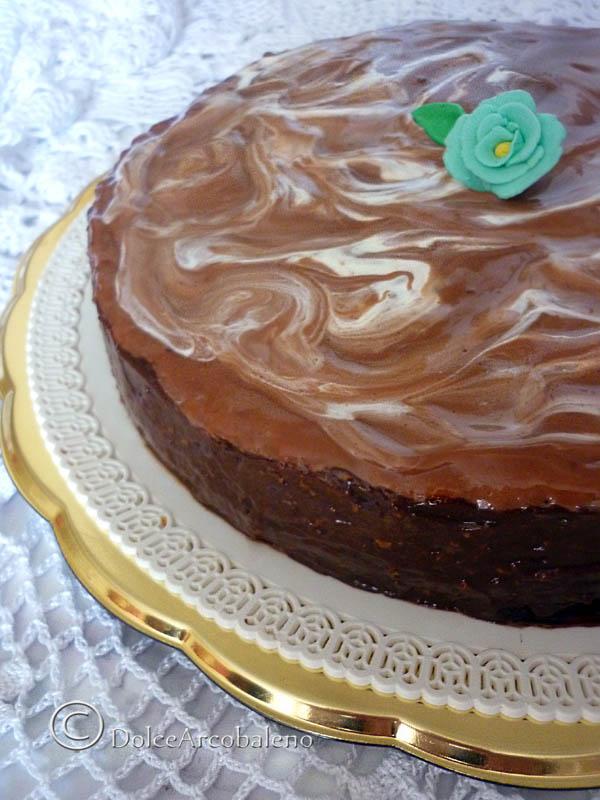 Torta gianduia marmorizzata. by Dolcearcobaleno