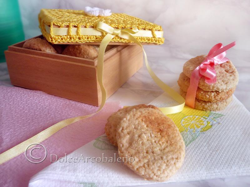Biscotti di crusca d'avena vegan