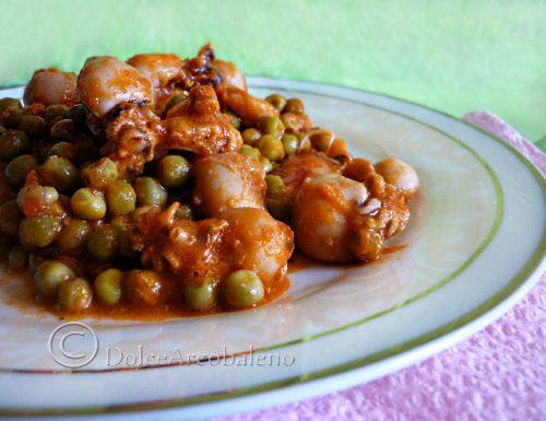 Seppioline con piselli, ricetta tradizionale laziale