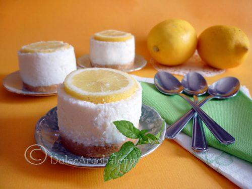 Mini cheesecake al limone