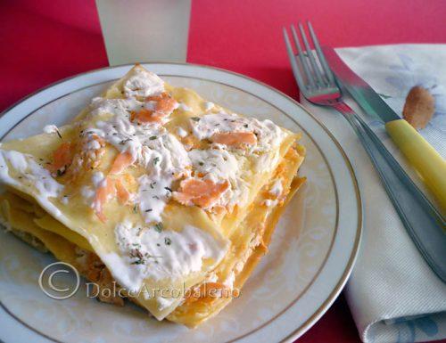 Lasagna salmone e panna