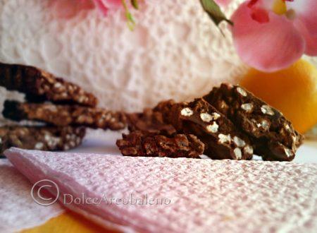Barrette di cioccolato al riso soffiato