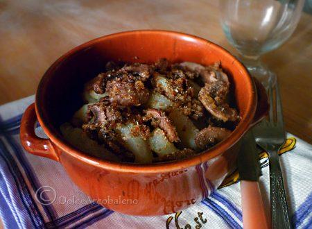 Tranci di patate ai funghi