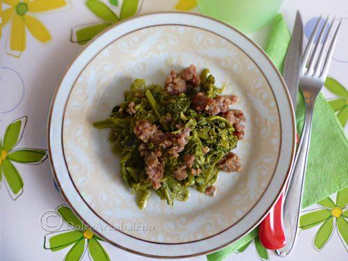 Broccoletti con salsicce
