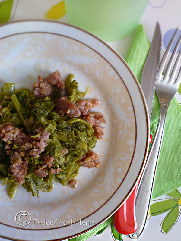 Broccoletti con salsicce by Dolcearcobaleno