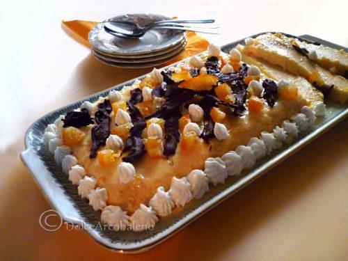 Mattonella gelato all'arancia