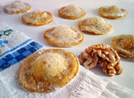 The buckwheat flour ravioli with walnuts