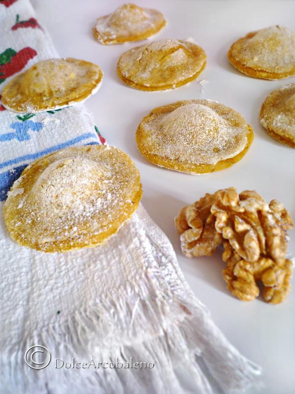 The buckwheat flour ravioli with walnuts Ravioli di grano saraceno by Dolcearcobaleno