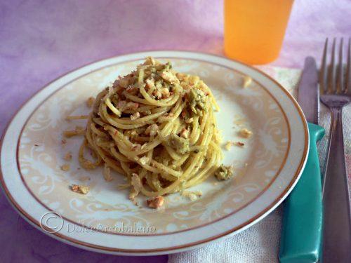 Spaghettini al pesto di broccoli e noci