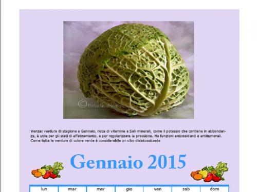 Calendario Gennaio 2015