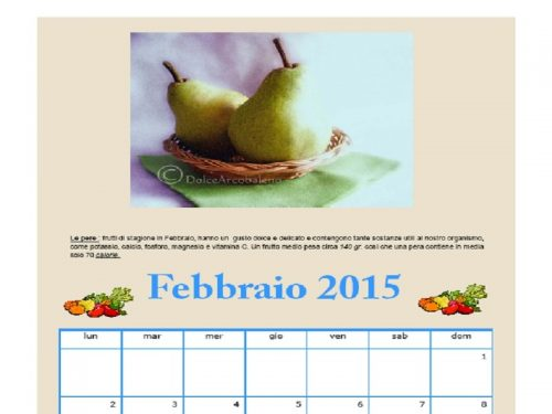 Calendario Febbraio 2015