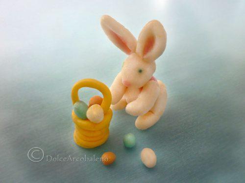 Coniglietto di Pasqua in PDZ con cestino