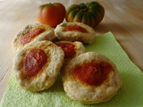 Pizzette rosse integrali