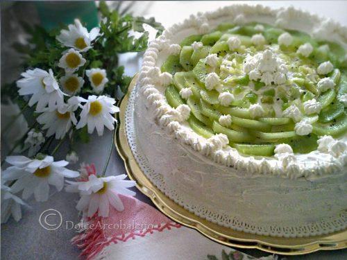 Torta kiwi e crema diplomatica