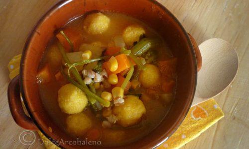 Zuppa di mais con gnocchi