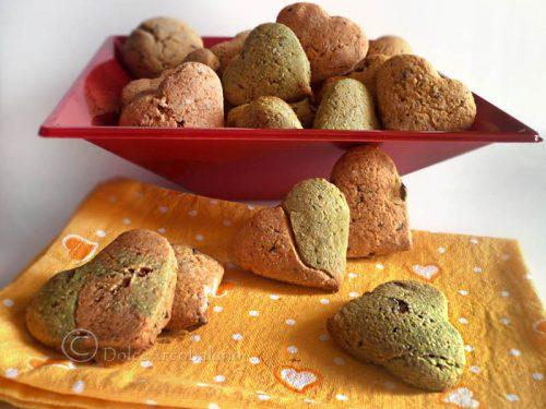 Biscotti cuori rustici romantici per San Valentino