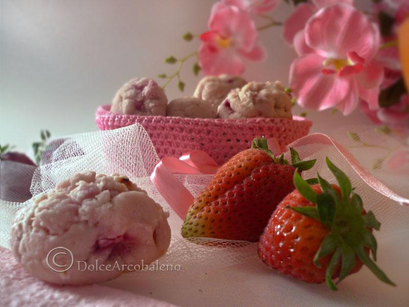 Biscotti fior di fragola by Dolcearcobaleno biscotti da regalare a Natale