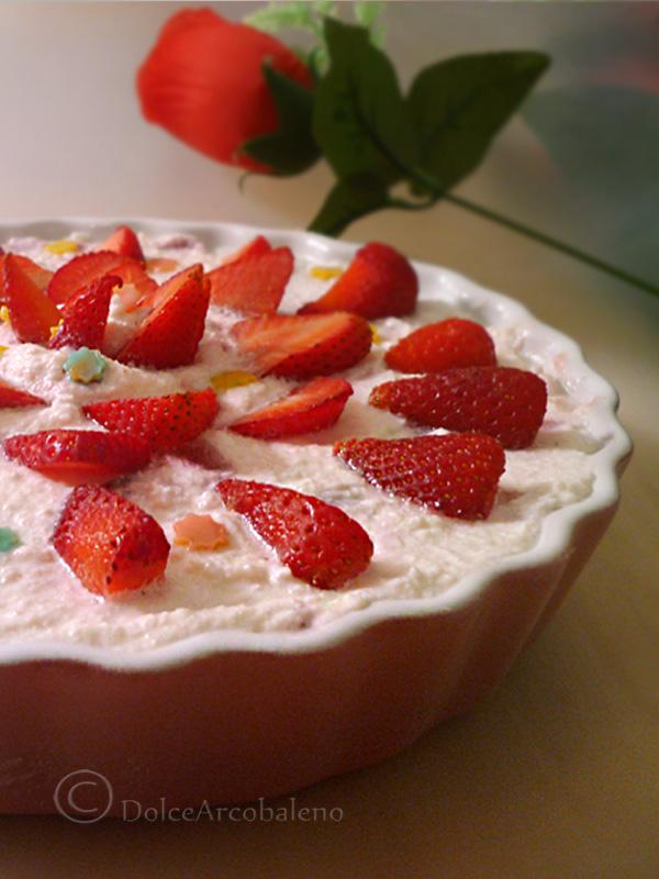 Torta fredda alle fragole by Dolcearcobaleno