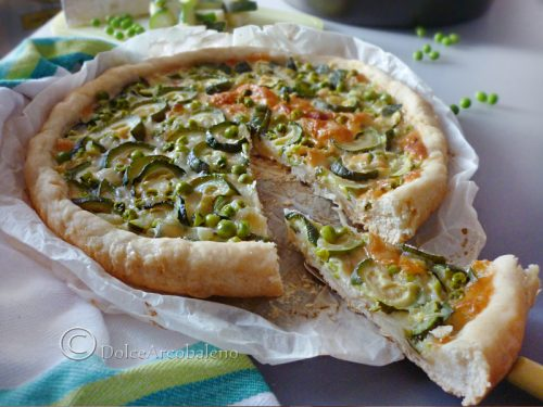 Torta salata verdure e formaggi