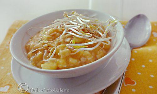 Minestra ai germogli di soia