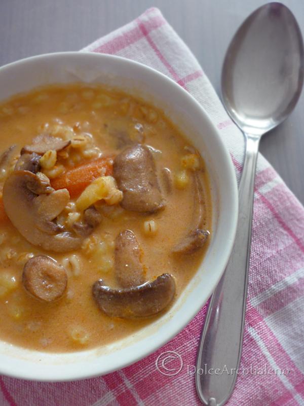 Zuppa di funghi e cereali by Dolcearcobaleno