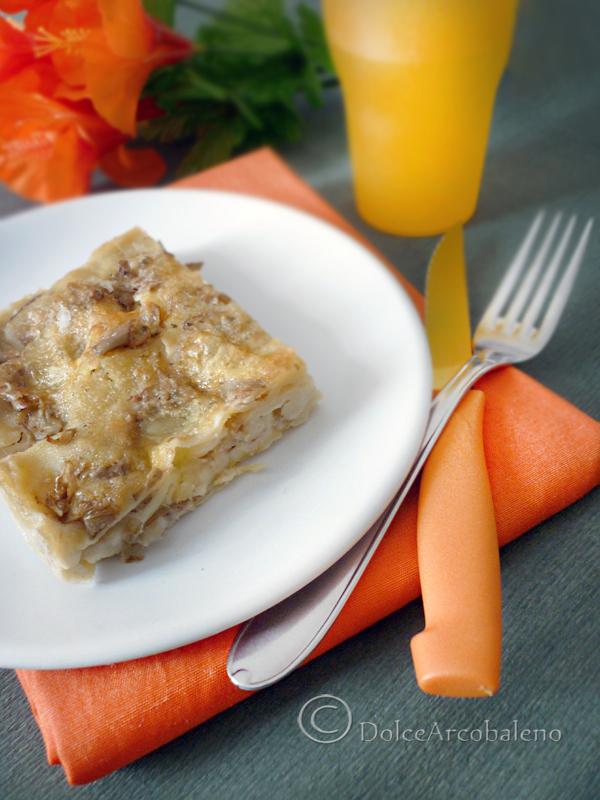 Lasagna funghi carciofi e mozzarella by Dolcearcobaleno