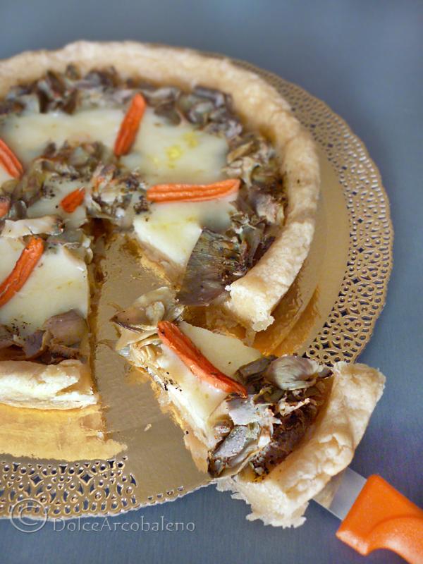Torta salata carciofi e mozzarella By Dolcearcobaleno