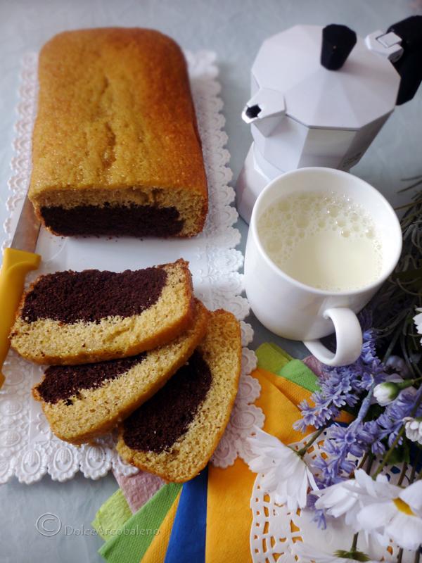 Plumcake bicolore allo zenzero by Dolcearcobaleno